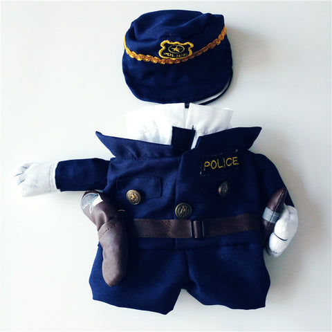 Policeman Cat Costume - My Bengal Boy