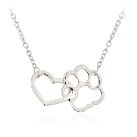 Paw Love Heart Necklace - Lunani's Fashion Book | Fashionable and reasonable dresses and shoes!