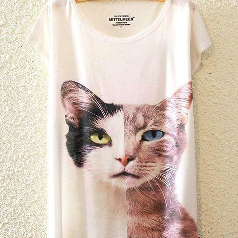 Women's One Size Cat T-Shirt