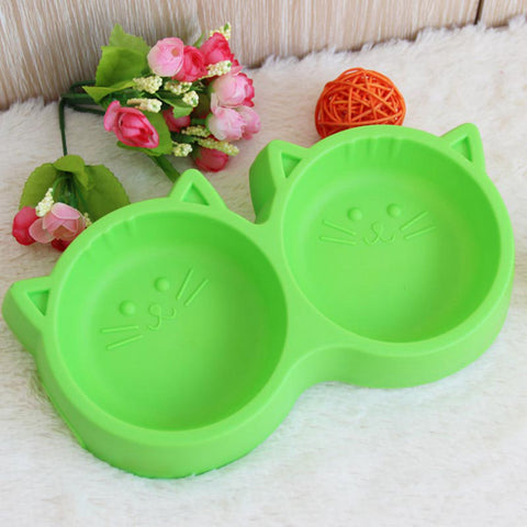 Double Cat Feeding Bowl