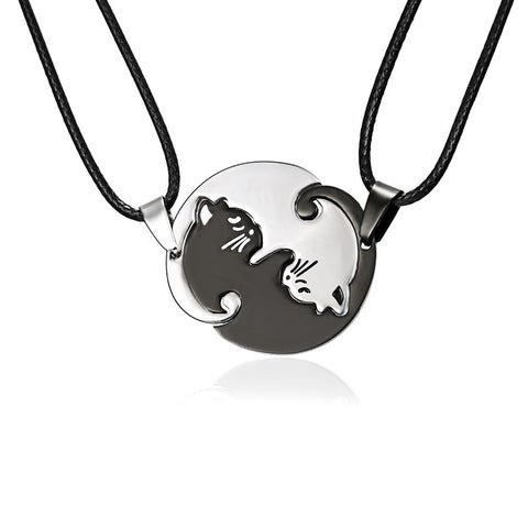 Ying Yang Bestfriend Cat Necklaces - My Bengal Boy