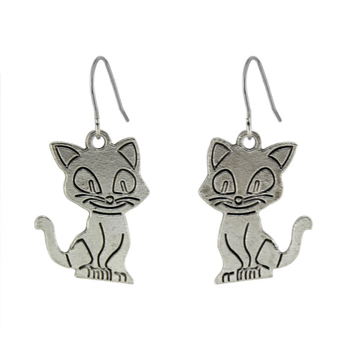 Matching Cat Earrings and Necklace - Lunani's Fashion Book | Fashionable and reasonable dresses and shoes!