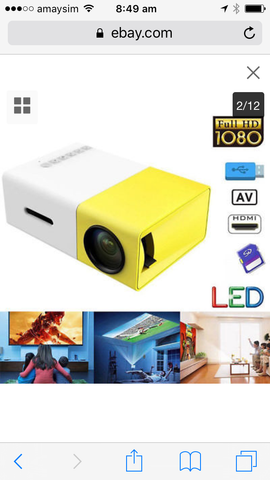 Mini Portable LED Projector - Lunani's Fashion Book | Fashionable and reasonable dresses and shoes!