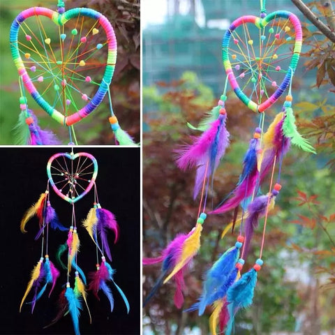 Multi-Colour Love Heart Dream Catcher - Lunani's Fashion Book | Fashionable and reasonable dresses and shoes!