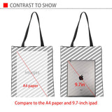 INSTANTARTS Fashion Foldable Shopping Bag Cartoon Cat Dog Puzzle Design Women Linen Tote Bag Casual Beach Travel Shoulder Bag - My Bengal Boy
