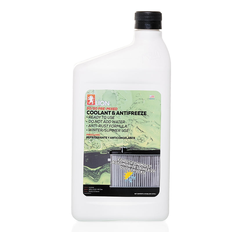 50/50 Radiator Coolant and Anti-Freeze - Conventional Green