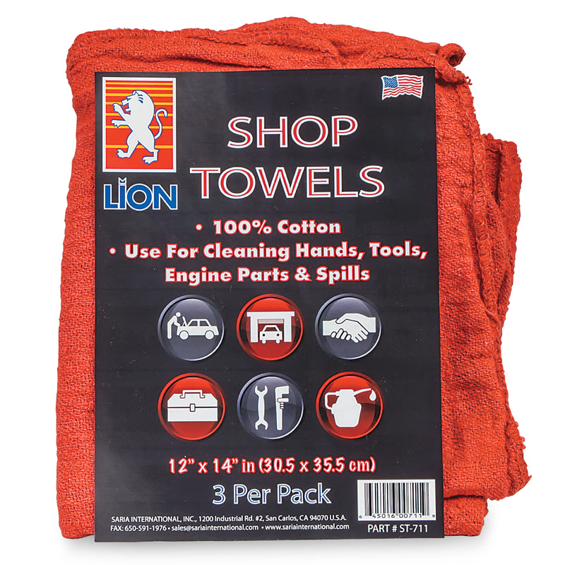 Shop Towels (100% Cotton) 3 Pack