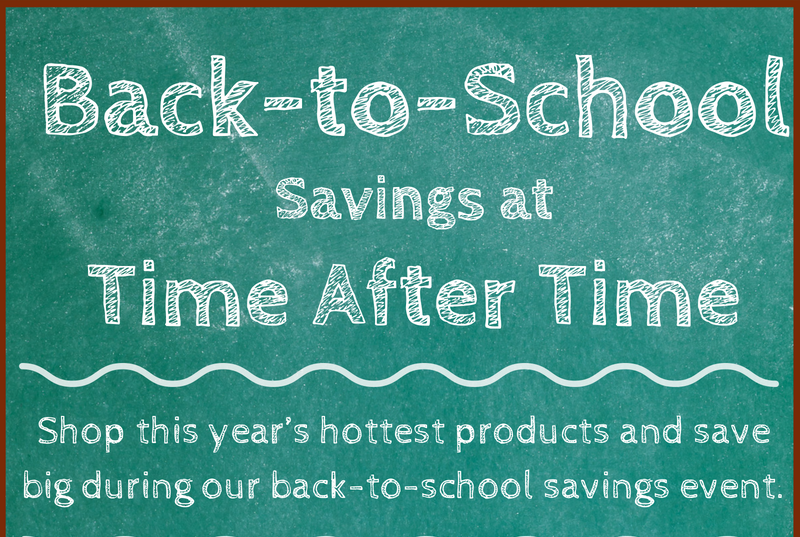 Enjoy Back-to-School Savings on the Season's Most Popular Watch Brands