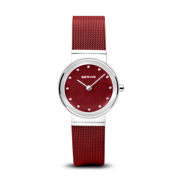 Ladies' Classic Polished Silver Red
