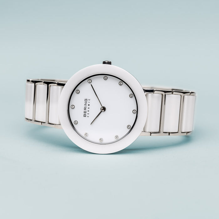 Ladies Ceramic Polished Silver 11435-754