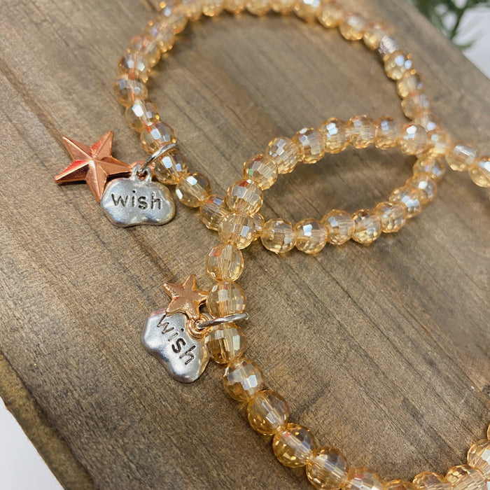 Limited Edition Make-A-Wish Big & Little Star Bracelet Set