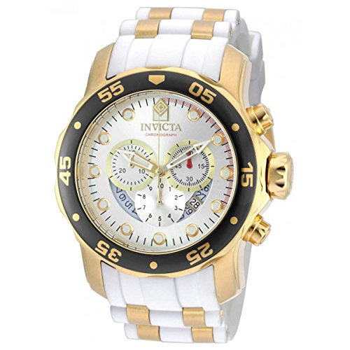 Invicta Men's Pro Diver Stainless Steel Quartz Watch with Silicone Strap