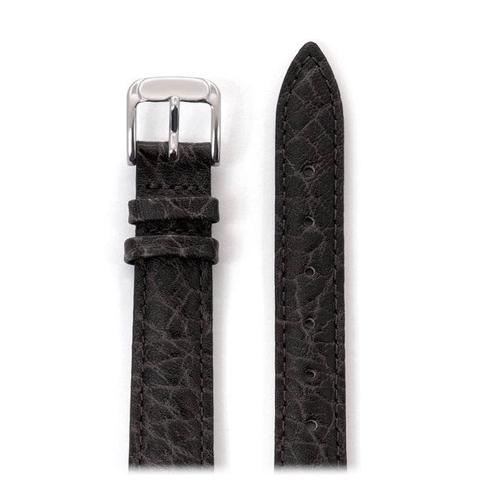 Ladies' Heavy Texture Buffalo Grain Leather Watchband