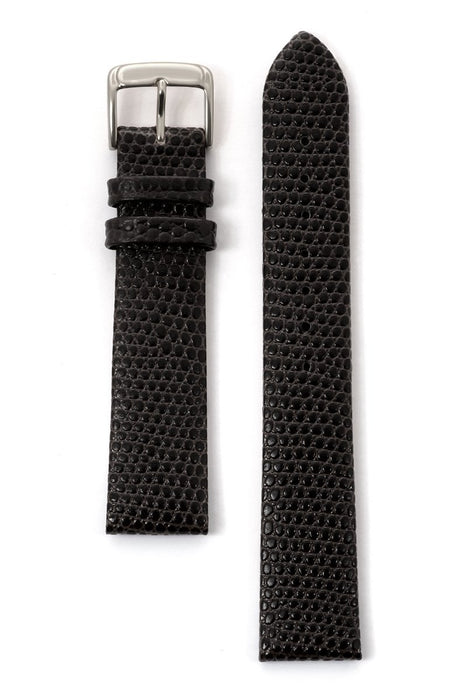 Men's Lizard Grain Leather Band in Black and Brown