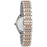Bulova Rose Gold Tone and Silver Tone Bracelet Watch