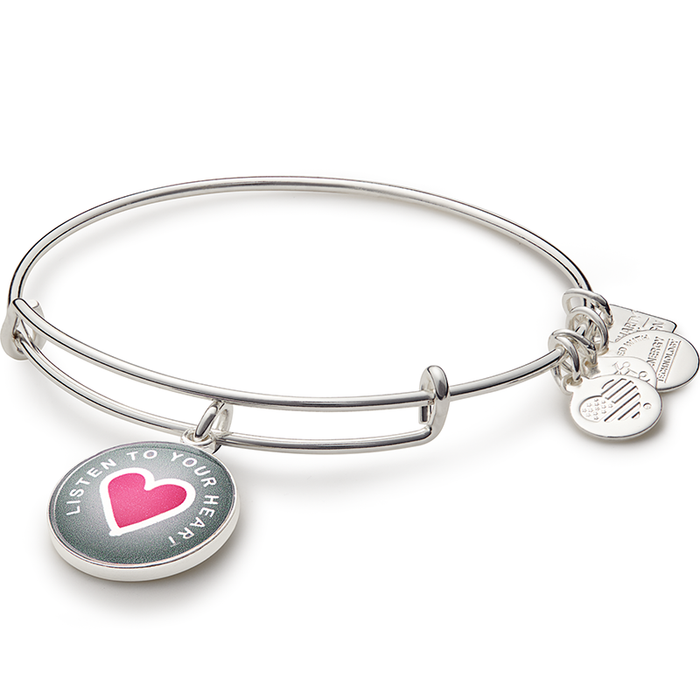 Alex and Ani Listen To Your Heart Charm Bangle | Life Is Good Kids Foundation