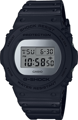 In the spirit of constantly finding ways to incorporate world culture icons, G-Shock introduces a selection of new Metallic Mirror Face Models. This no-nonsense practical design is sleek in the all black coloring with a silver/grey dial and clear digital display as well as the day date.