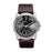 Master Chief Black Dial Silver Case Dark Brown  Strap