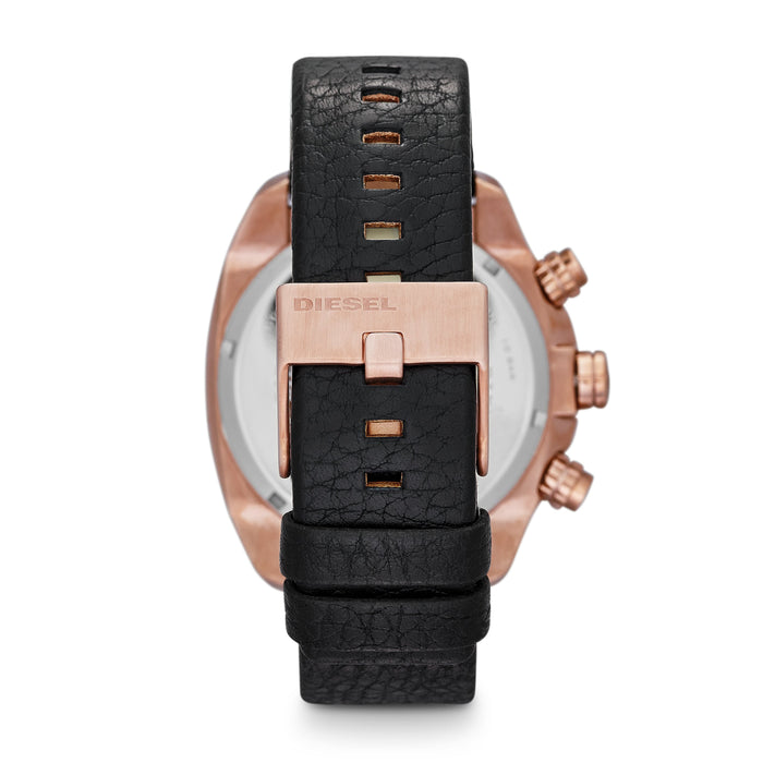 Overflow Black Dial Rose Case Black Strap