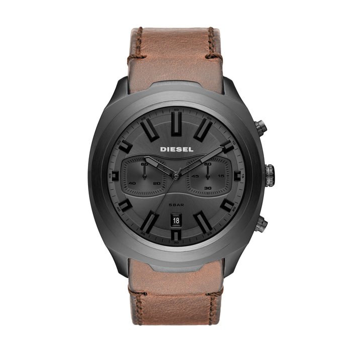 Tumbler Gunmetal Dial and Case Brown Strap