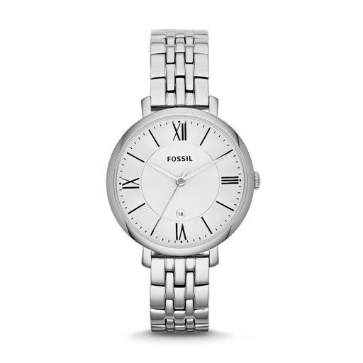 Fossil Jacqueline White Dial Silver Dial Silver Bracelet