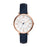 Fossil Jacqueline White Face Rose Indexes Rose Dial Navy Strap