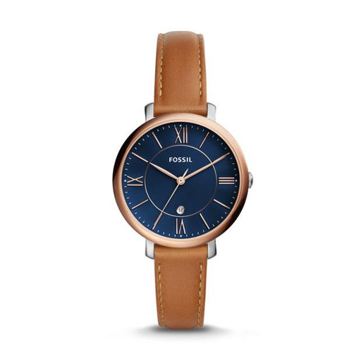 Fossil Jacqueline Three-Hand Date Luggage Leather Watch