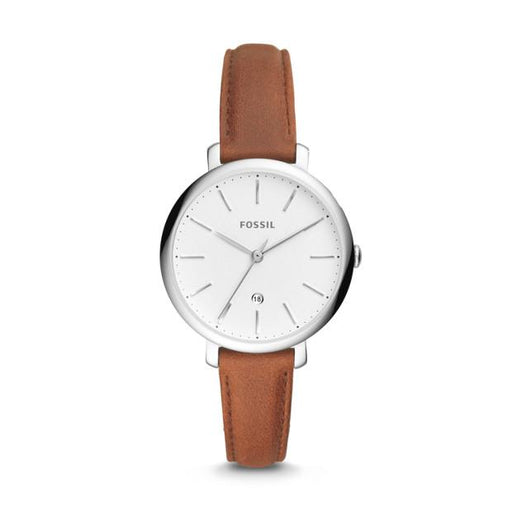 Fossil Jacqueline Three-Hand Date Brown Leather Watch