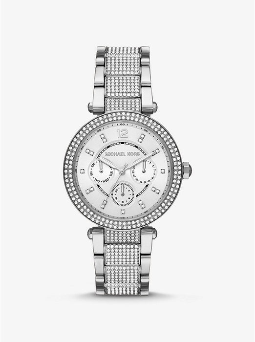 Michael Kors Oversized Parker Pavé Silver Watch MK6759