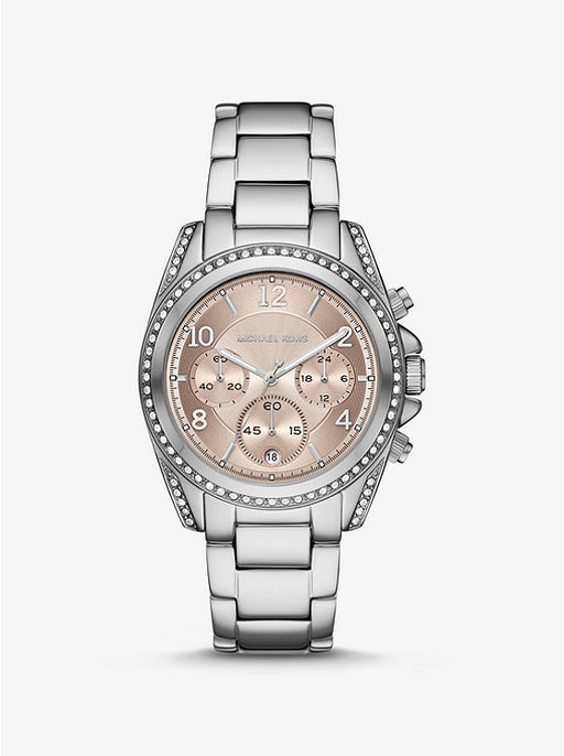 Michael Kors Oversized Blair Pavé Silver Watch MK6761