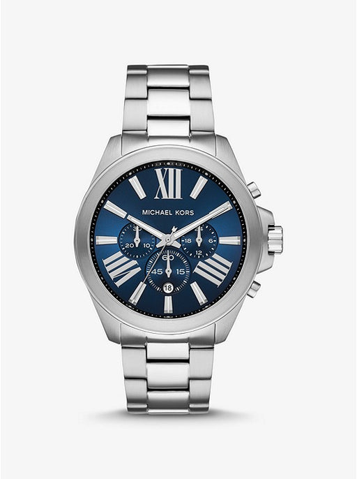 Oversized Wren Silver Watch MK8765