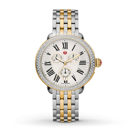Michele Serein Diamond Two-Tone Watch