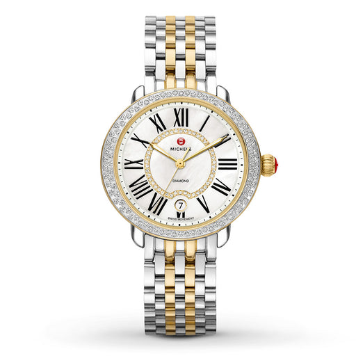 Michele Serein Mid Two-Tone Diamond Watch
