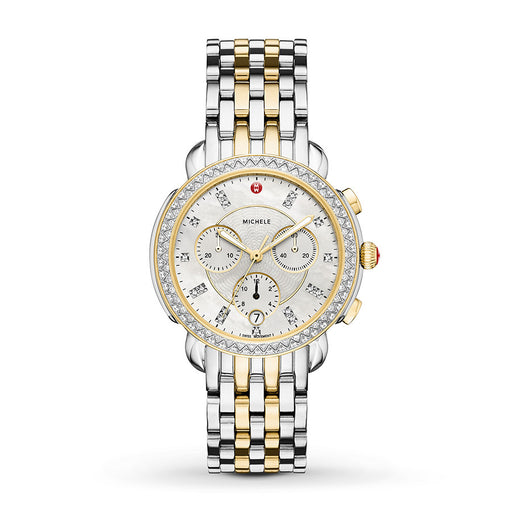 Michele Sidney Diamond Two-Tone Diamond Watch