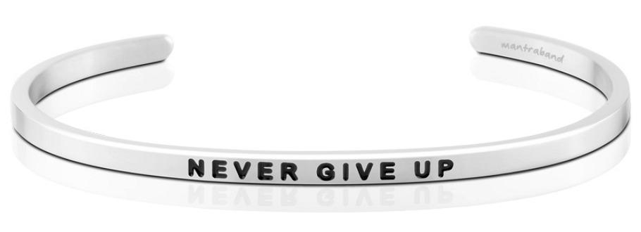 MantraBands Never Give Up Bracelet