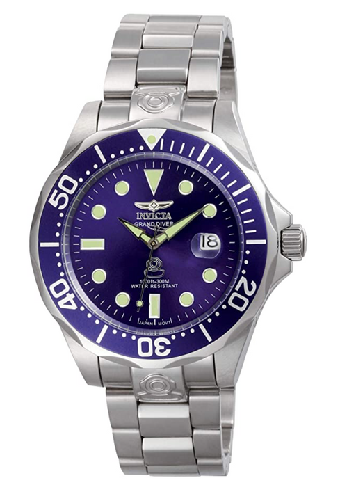 Invicta Men's 3045 Pro-Diver Collection Grand Diver Stainless Steel Automatic Watch