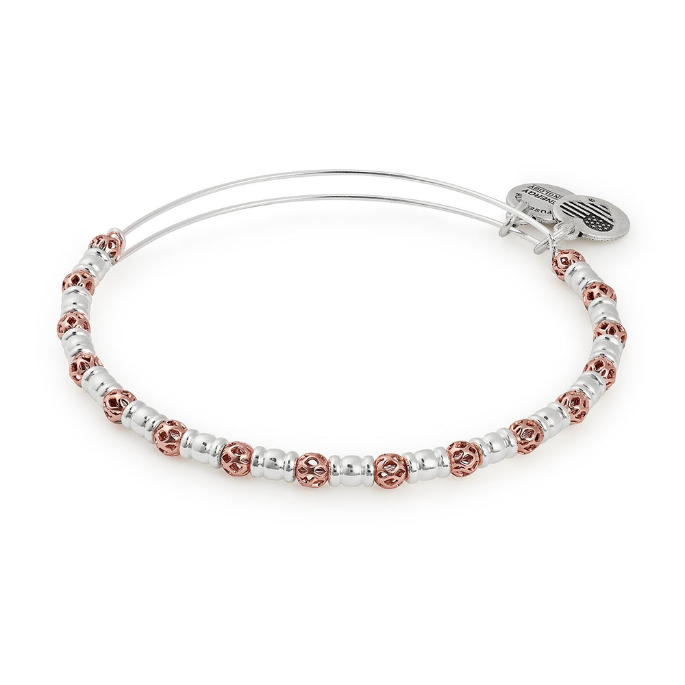 Alex and Ani Orbit Two Tone Beaded Bangle