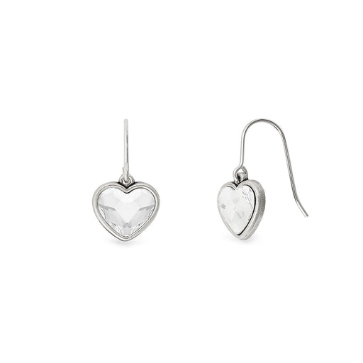 Alex and Ani Crystal Heart Hook Earrings