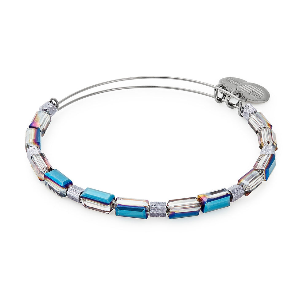 Alex and Ani Metallic Blue Aurora Beaded Bangle