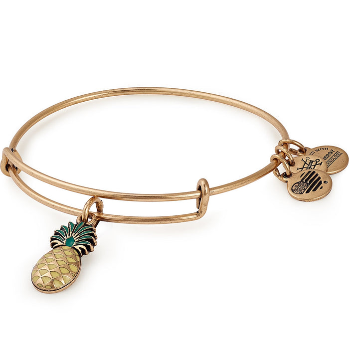Alex and Ani Pineapple Color Infusion Charm Bangle