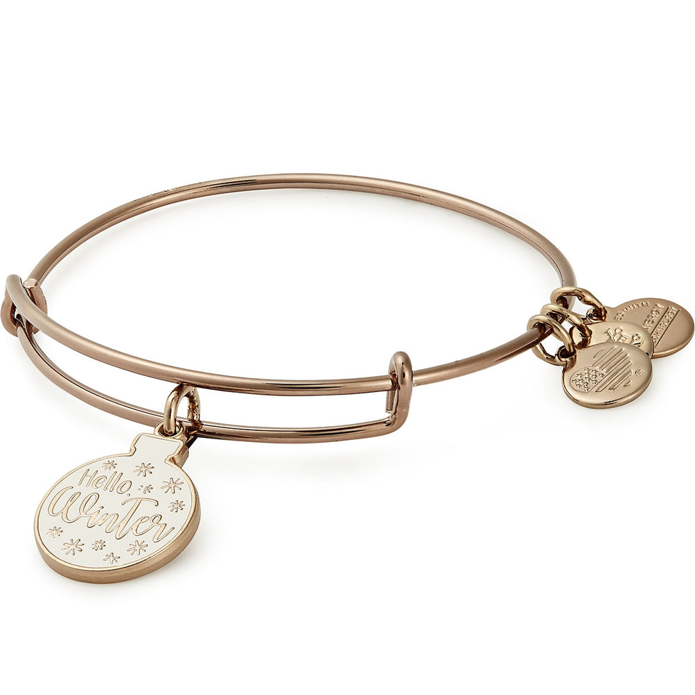 Alex and Ani Hello Winter Glitter Ornament Charm Bangle