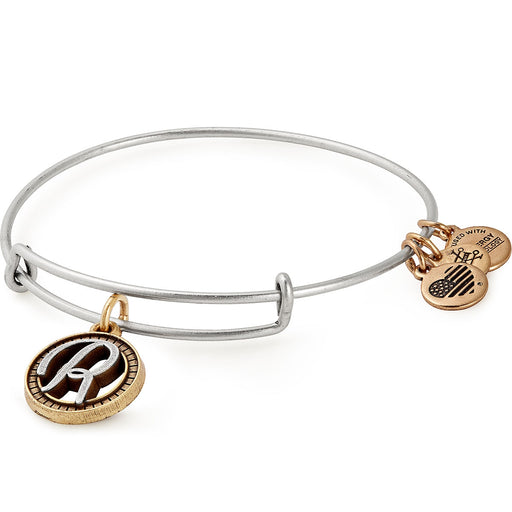 Alex and Ani Initial R Two Tone Charm Bangle