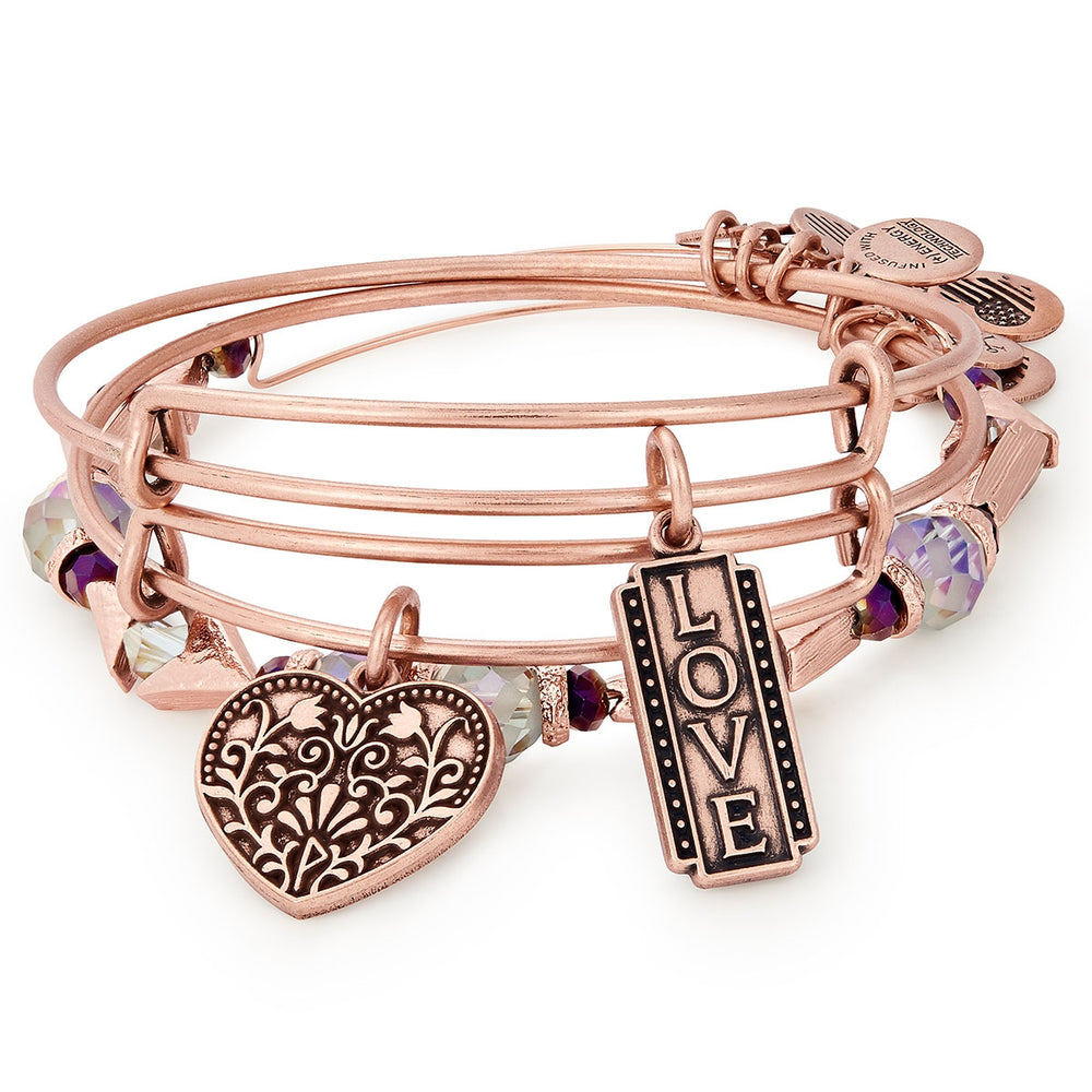 Alex and Ani Love Set of 3