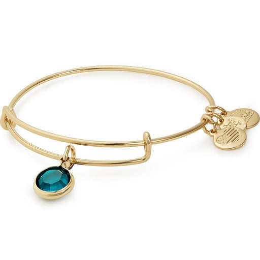 Alex and Ani Emerald Birthstone Charm Bangle with Swarovski® Crystals Shiny Gold
