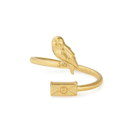 Alex and Ani Harry Potter Owl Post Ring Wrap - 14kt Gold Plated
