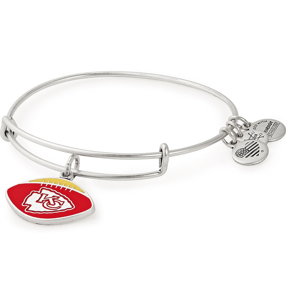 Alex and Ani Kansas City Chiefs Football Color Infusion Charm Bangle