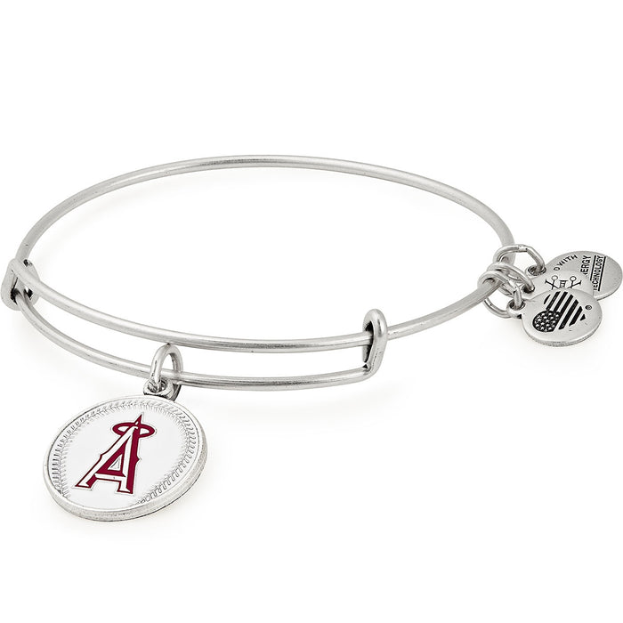 Alex and Ani Los Angeles Angels Color Infusion Charm Bangle