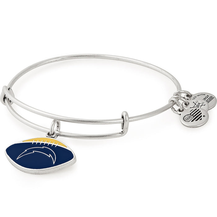 Alex and Ani Los Angeles Chargers Football Color Infusion Charm Bangle