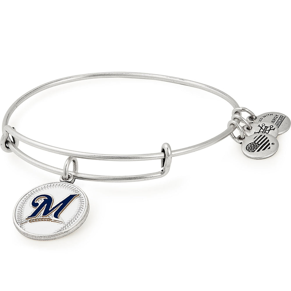 Alex and Ani Milwaukee Brewers Color Infusion Charm Bangle