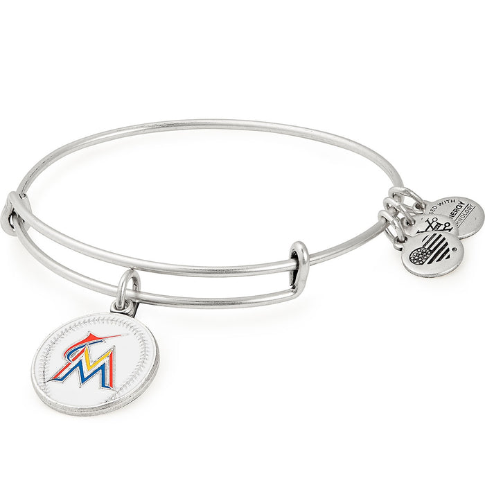 Alex and Ani Miami Marlins Color Infusion Charm Bangle